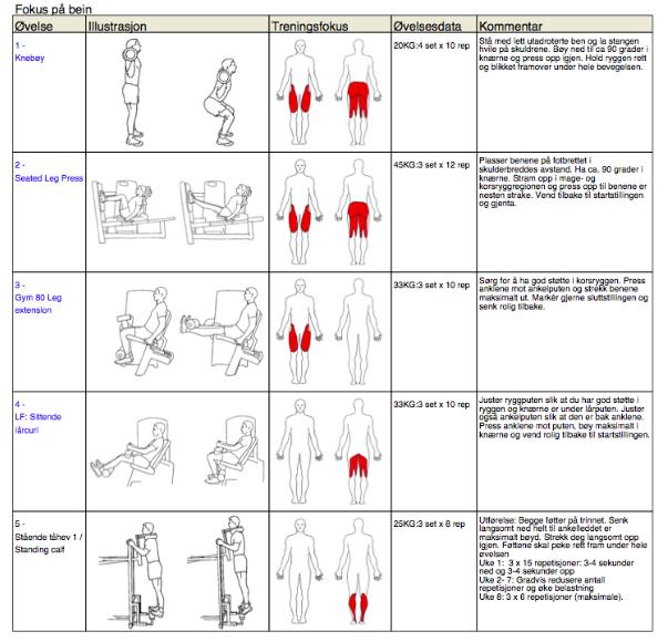 treningsprogram for jenter mage